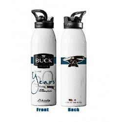 Buck Water Bottle, kolor srebrny, butelka na wodę (7583)