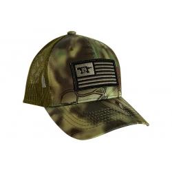 Buck Adult Cap, czapka z daszkiem, kryptek mandrake flag (12409)