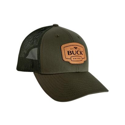 Buck Adult Cap, czapka z daszkiem, leather patch (12410)